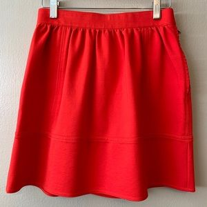 MADEWELL | Red Pointe Swivel Skirt Size 0